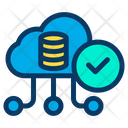 Verified Cloud Verified Data Approved Database Icon