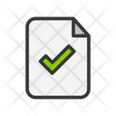 Approved Document Checked Document Approved File Icon