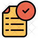 Document Approved Verify Icon