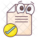 Attested Paper Attested Document Approved Document Icon