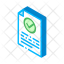 Document Paper Check Icon
