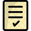 Stamped Document Approved Icon