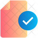 File Approved Tick Icon