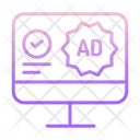 Approved Online Ads Icon