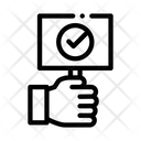 Approved Sign Board Icon