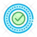 Approved Mark Print Icon