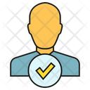 Approved User Secured Person Icon