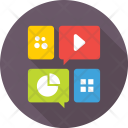 Apps Media Graph Icon