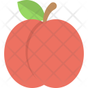 Apricot Healthy Food Icon