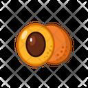 Apricot Fruits Fruite Icon