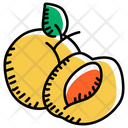 Fruit Apricot Plum Icon