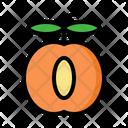 Apricot Fruit Vegan Icon