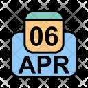 April Calendar Date Icon