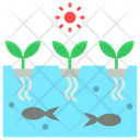 Aquaponic Soilless Agriculture Icon