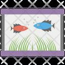 Aquarium Fish Bowl Marine Exhibit Icon