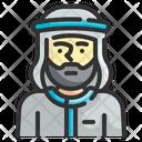 Arabian Muslim Bedouin Icon