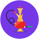 Arabian Hookah Vaporizing Device Smoking Equipment Icon
