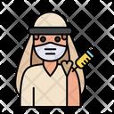 Arabian Man Vaccination Icon