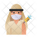 Arabian Man Vaccination Arabian Man Icon