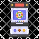 Retro Gaming Machine Video Game Arcade Game Icon