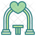Arch Building Heart Icon