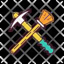 Archeologist Tools Equipment Icon