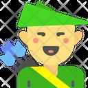 Archer Warrior Fighter Icon