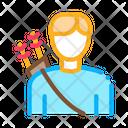 Archer Sport Man Icon