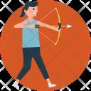 Aim Bow Arrow Icon