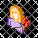 Archer Woman Silhouette Icon