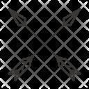 Archer Arrow Cross Icon