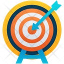 Archery Dart Board Bow And Arrow Icon
