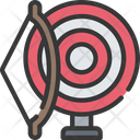 Archery Bow And Icon