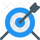 Archery Board Dartboard Icon