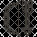 Archery Arrow Bow Icon