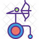 Archery Arrow Wheelchair Icon