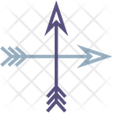 Archery Arrow And Bow Arrow Archery Icon