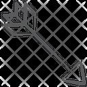 Archery Arrow Hitting Arrow Dartboard Arrow Icon
