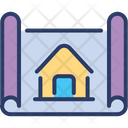 Architect Blueprint Design Icon