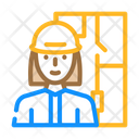 Architect Woman Job Icon
