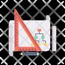 Architect Pencile Flowchart Icon