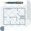 Architectural Project Blueprint Icon