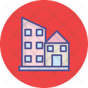 Architecture Building Exterior Home And Office Icon