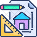 Architecture Engineering Blueprint Cogwheel Icon