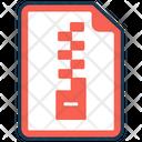 Zip File Archive Books Compressed File Icon