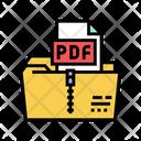 Archiving Pdf File Icon
