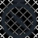 Compass Boundary Gps Icon