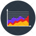 Area Chart Area Graph Data Analytics Icon