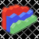 Area Chart Area Graph Graphical Representation Icon