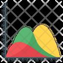 Area Chart Triangle Graph Graphical Representation Icon